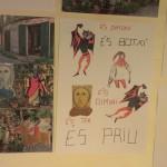 Murals il·lustrats dels visitants de l'exposició