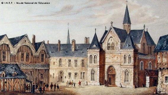 Vista de la universitat de la Sorbona en 1550. CC Edward August, Fourquemin, Nousveaux